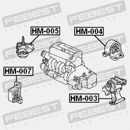 TRANSMISSION MOUNT AT (ACURA, HONDA 50805-S9A-983) Febest