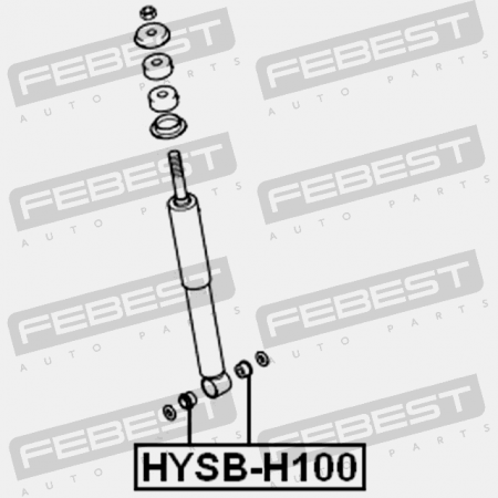 REAR SHOCK ABSORBER BUSHING (HYUNDAI 55311-45001) Febest