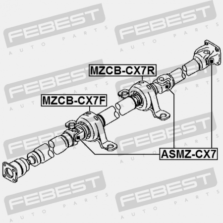 DRIVE SHAFT BEARING (MAZDA PH01-25-100B) Febest: MZCB-CX7F