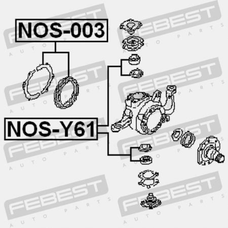 SUSPENSION ARM REPAIR KIT (NISSAN) Bearings Febest: NOS-Y61