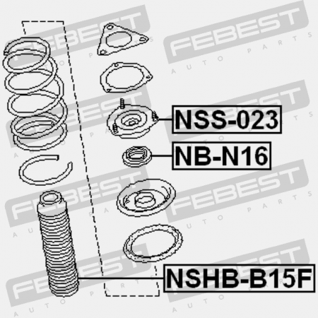 BOOT WITH JOUNCE BUMPER FRONT SHOCK ABSORBER (NISSAN 54052