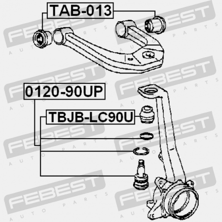 BUSHING, FRONT UPPER CONTROL ARM (TOYOTA 48632-35080