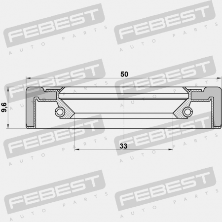 FRONT HALF SHAFT OIL SEAL 35X50X9.5 (LEXUS, TOYOTA) Febest