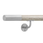 white wood handrail flat end