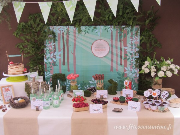 Kit anniversaire Forêt - table gourmande - Fêtes vous même