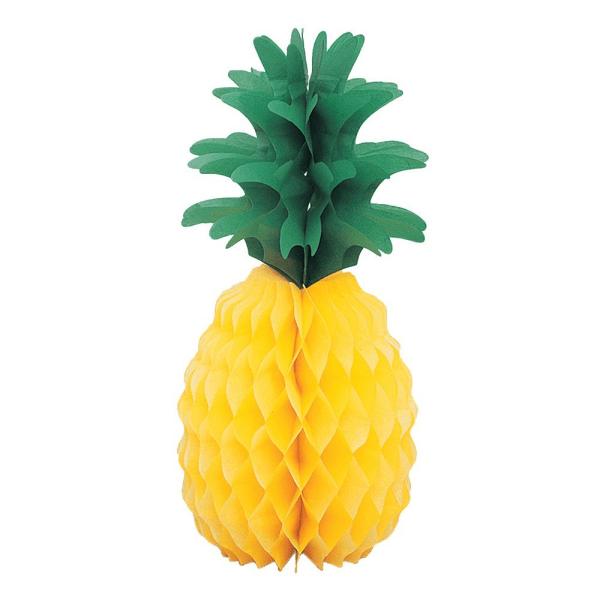 Ananas en papier alvéolé - Fêtes vous même