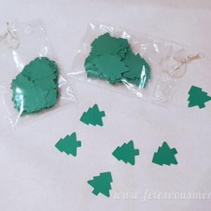 Confettis Sapin Vert - Fêtes vous même