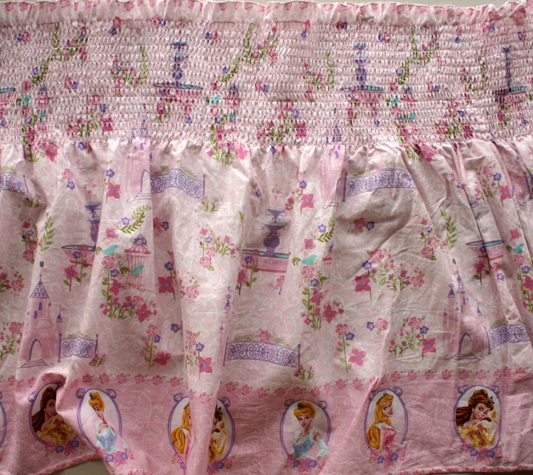 Pre Smocked Shirred Sundress Fabric Disney Princess Glow Within CottonElastic Pink 41061 C47018