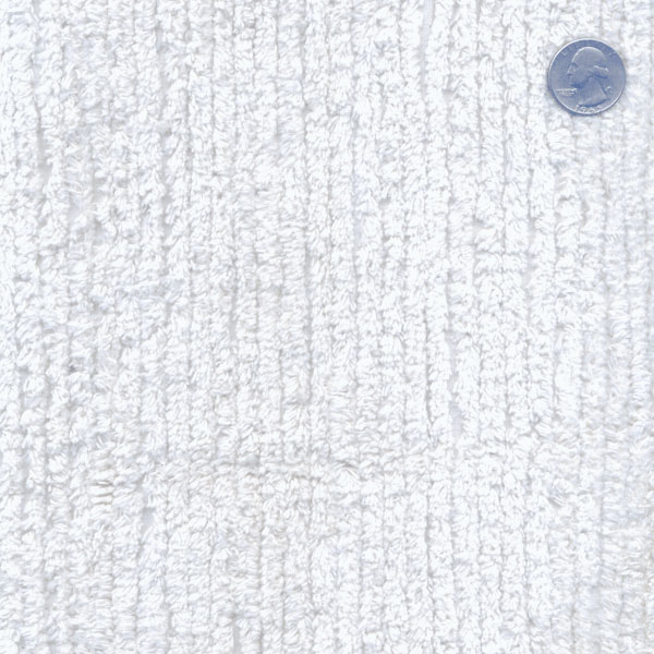 Cotton Terry Chenille Fabric by the Yard  White TC0501596