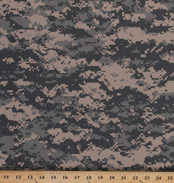 Digital Ripstop Cotton Camo Blend Camouflage Fabric Print