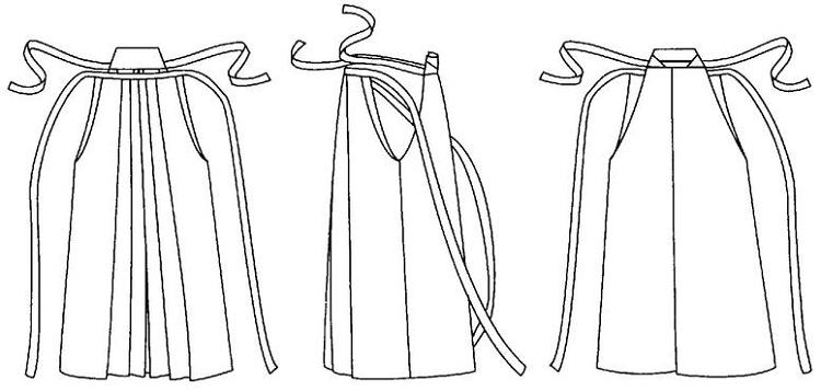 Folkwear #151 Japanese Hakama & Kataginu Samurai Warrior