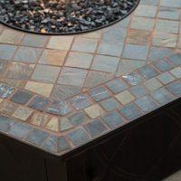 UniFlame 55-in. Decorative Slate Tile LP Gas Outdoor Fire ...