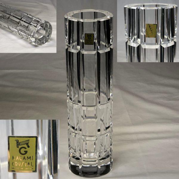 カガミクリスタル花瓶T2031