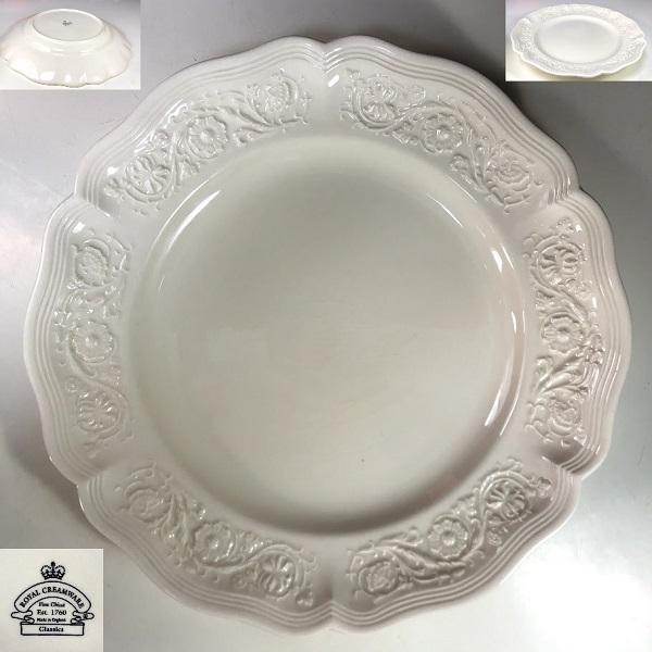 Royal Creamware 28cmプレート
