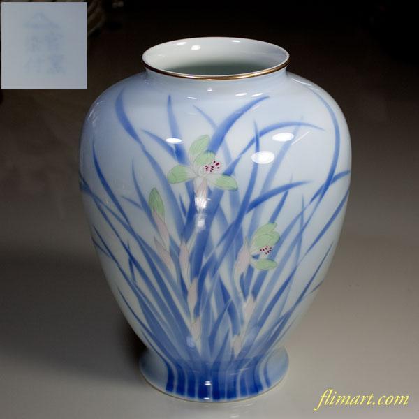深川製磁蘭花瓶W3376