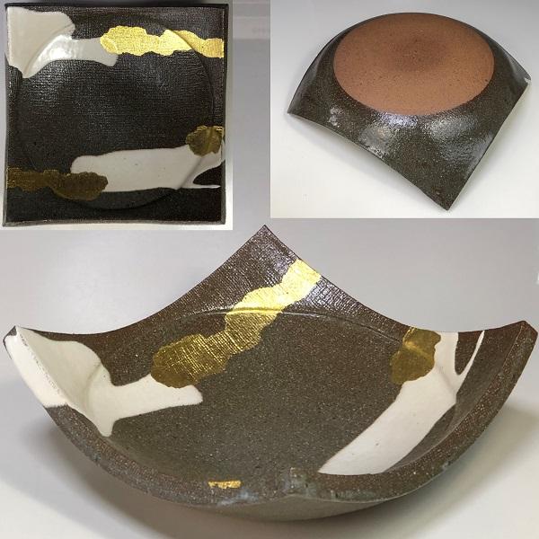 金彩角盛皿W7420