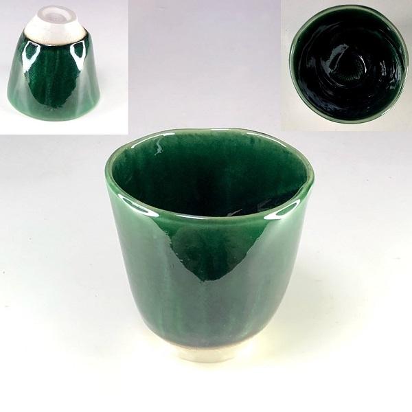 緑釉湯呑W8556