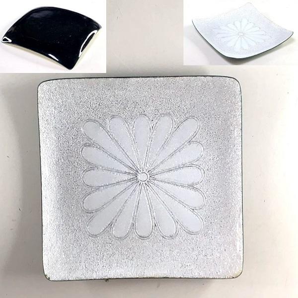 七宝菊紋角皿
