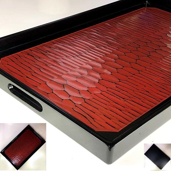 木製漆器長手盆W8636