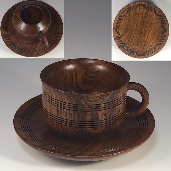 木製碗皿W7301