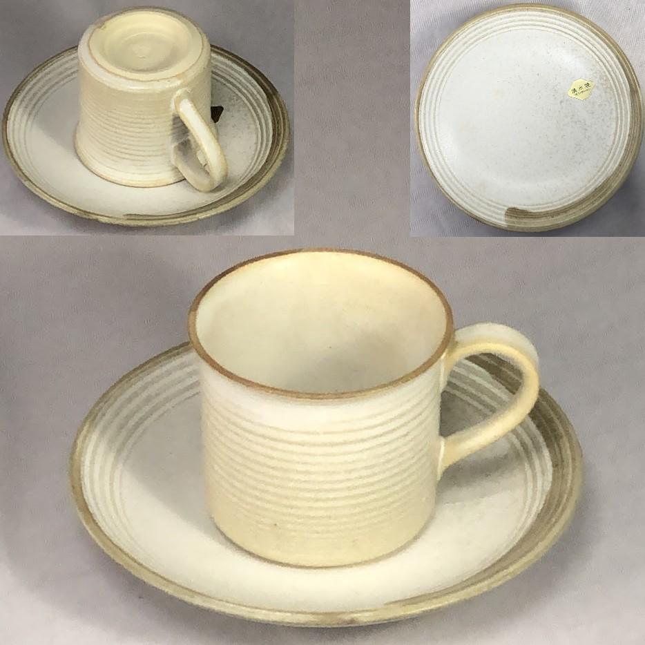 清水焼碗皿W7074