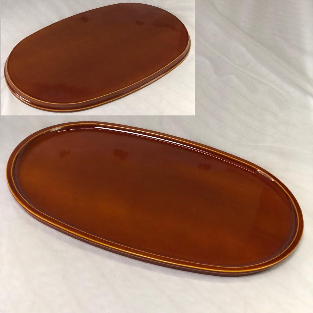 春慶塗一尺六寸楕円盆W7211