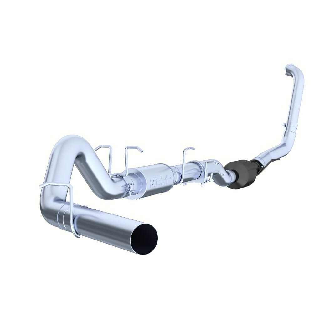mbrp 4 inch turbo back exhaust al with muffler
