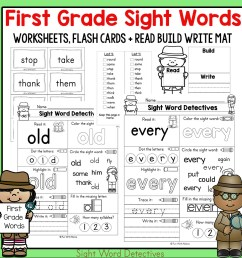 First Grade Sight Words Worksheets and Activities - Fun with Mama Shop [ 1000 x 1000 Pixel ]