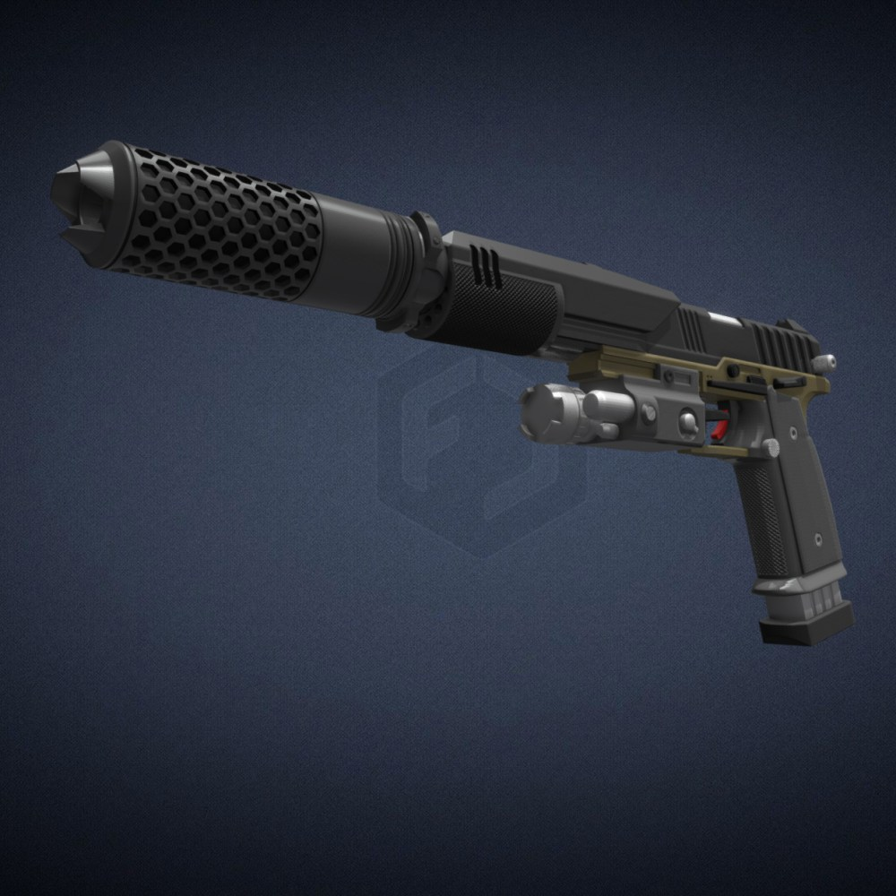 Titanfall Smart Pistol Mk5 – Basic Edition 3D Print Files