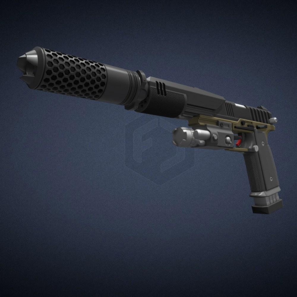 Titanfall Smart Pistol Mk5 – Basic Edition 3D Print Files