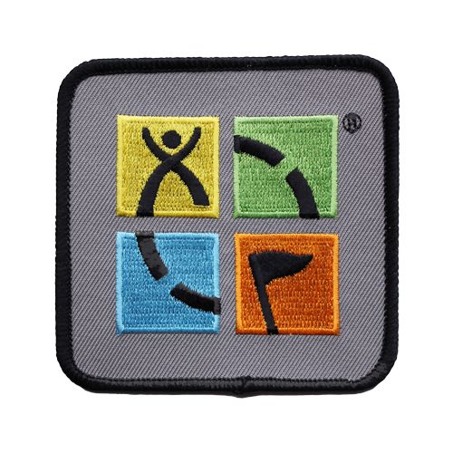 geocaching patch four color