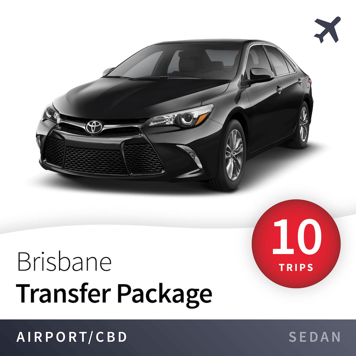 Brisbane Airport Transfer Package - Sedan (10 Trips) 10