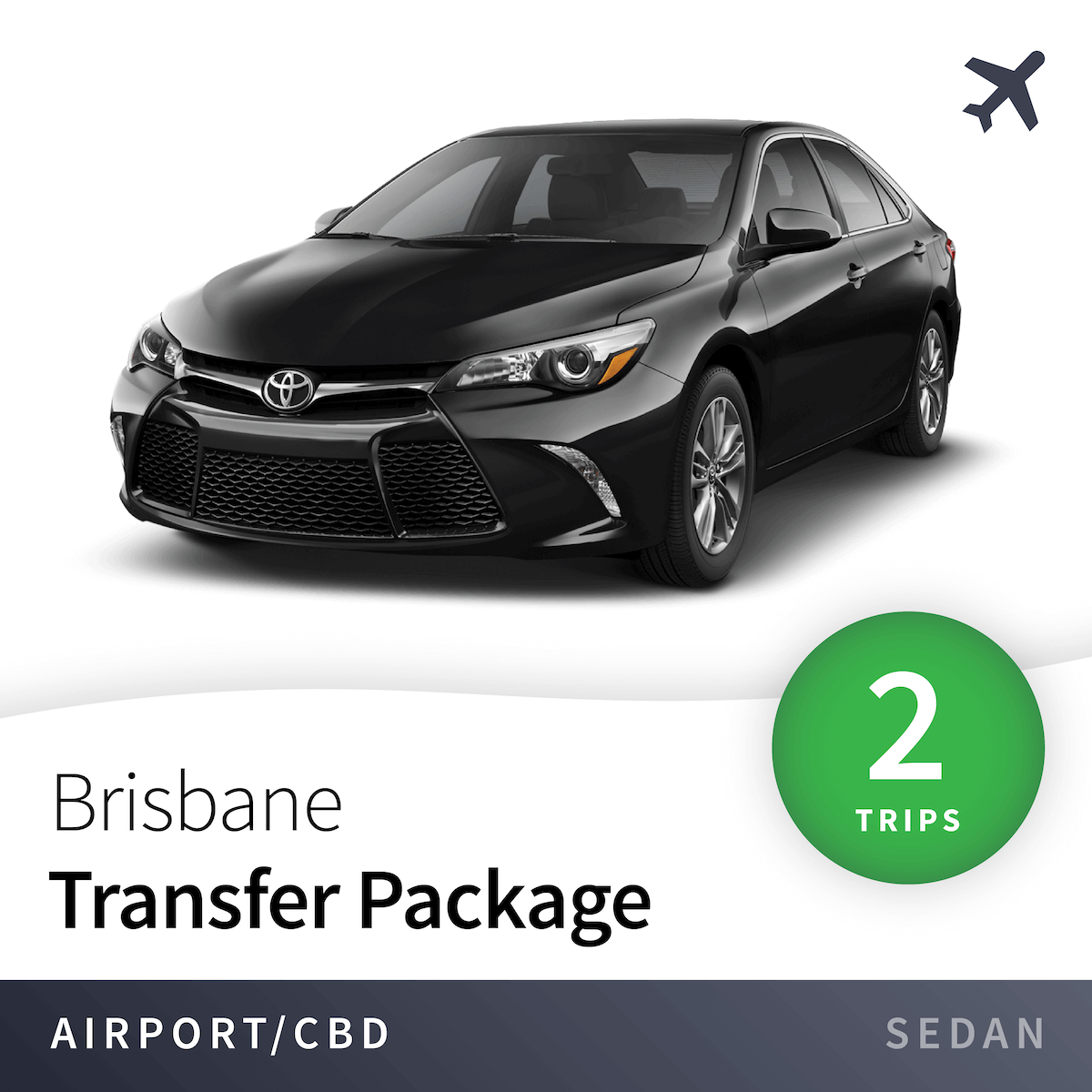Brisbane Airport Transfer Package - Sedan (2 Trips) 1