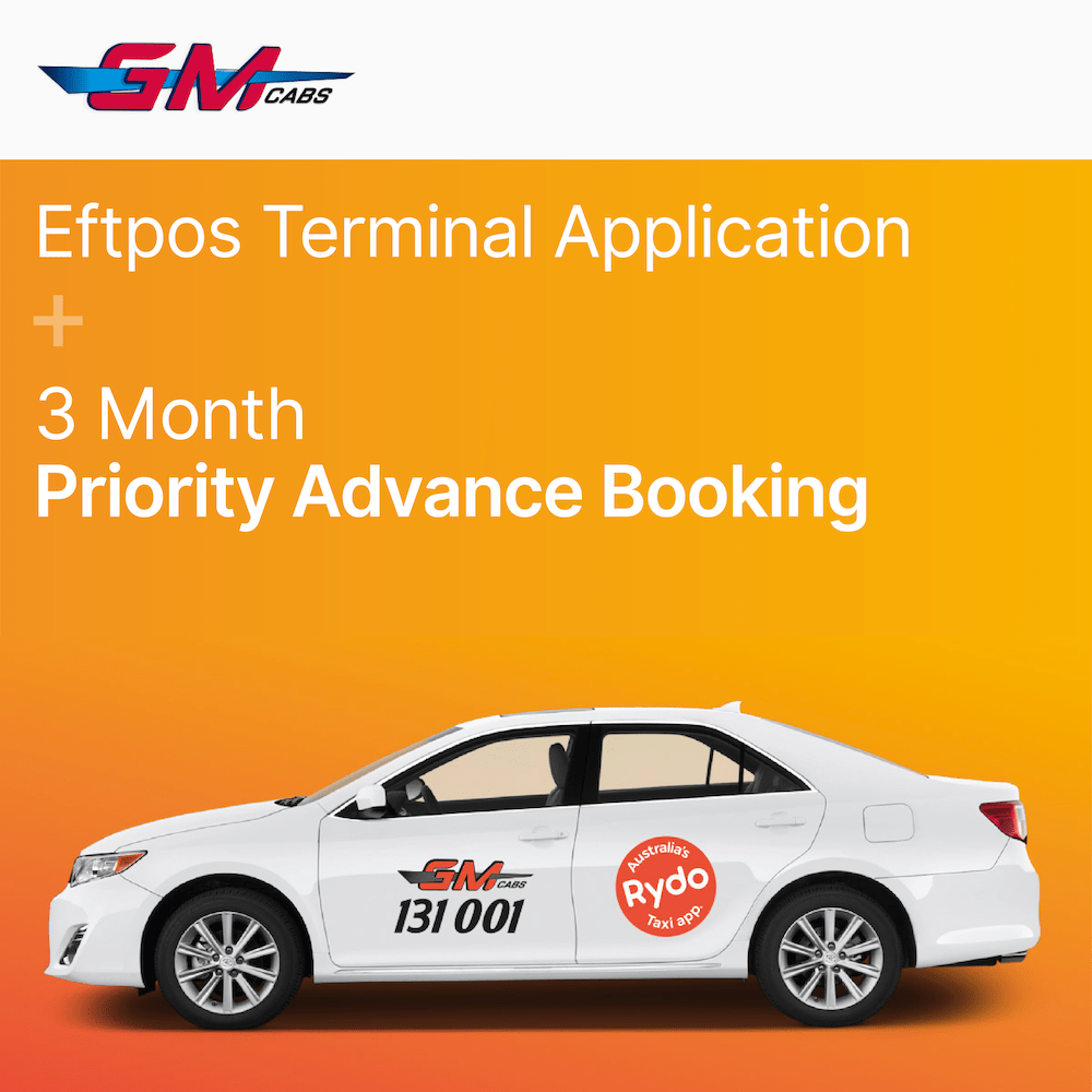 GM CABS - Eftpos Terminal & Priority Advance Booking 12