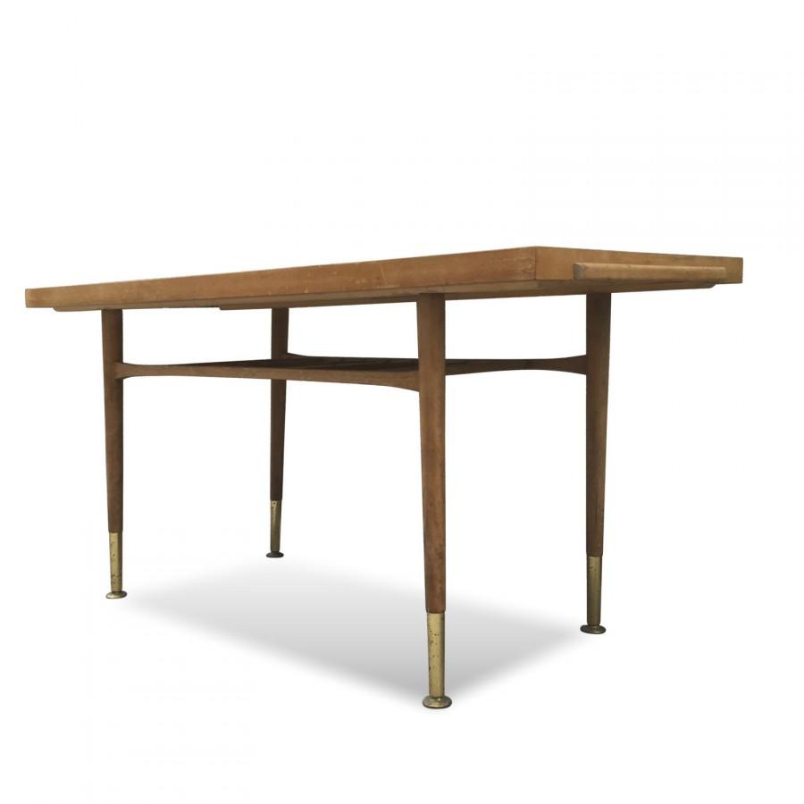 danish coffee table mit magazin shelve