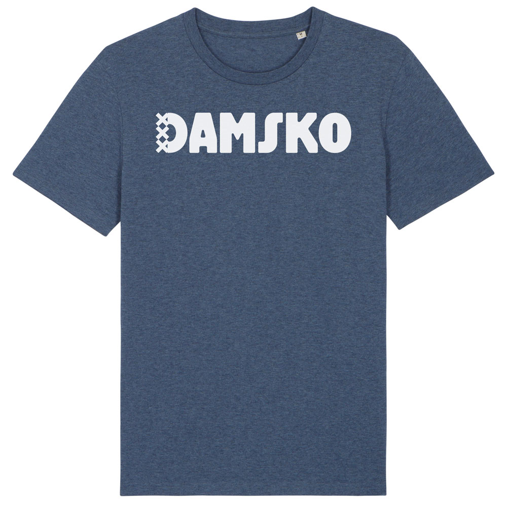 Damsko Shirt Dark Heather Blue