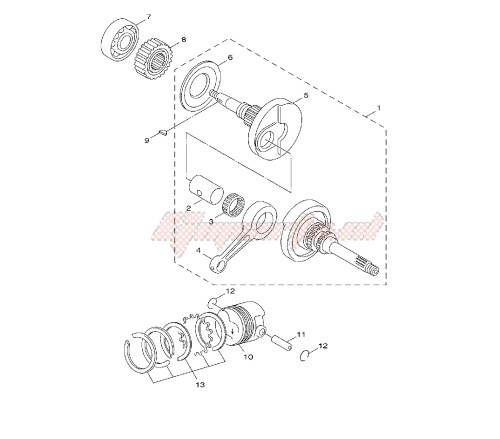 small resolution of blueprint crankshaft and piston