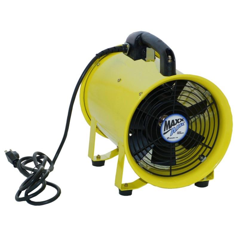 maxxair axial hose fan 12 portable exhaust blower 2000 cfm 2 speed