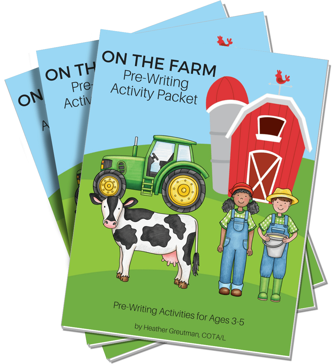 On The Farm Pre Writing Activity Packet Digital Download