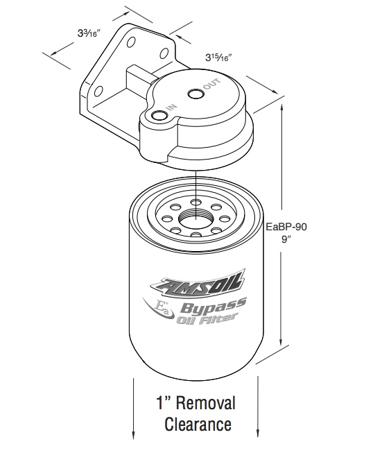 AMSOIL BMK34 Cummins 5.0/5.9/6.7L Single-Remote Bypass System