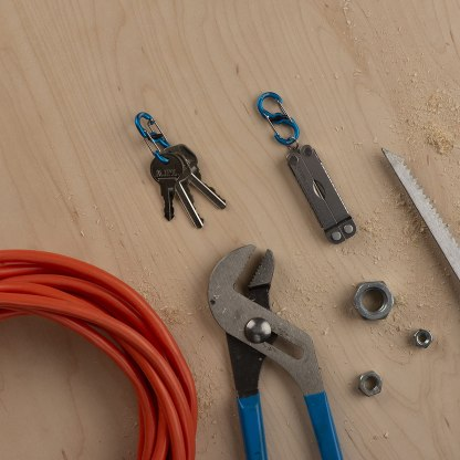 Nite Ize S-Biner MicroLock, Locking Key Holder, 2-Pack, Aluminum