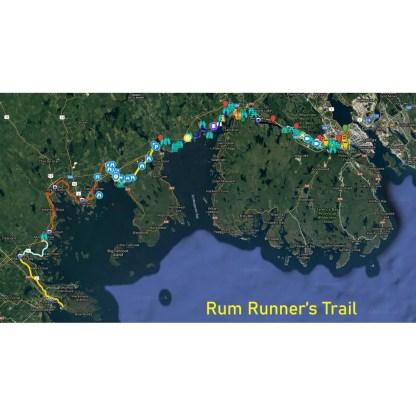 rum runners trail map