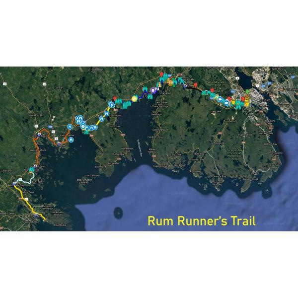 rum runners trail map