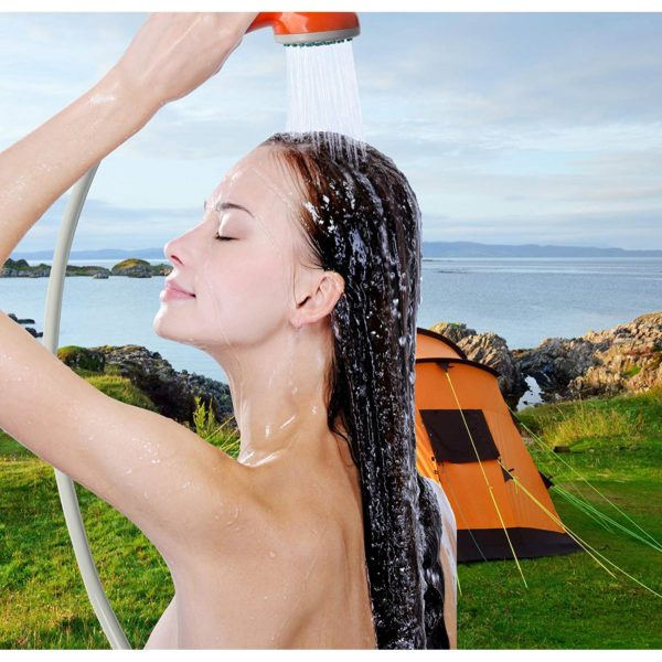 portable battery powered camping showering