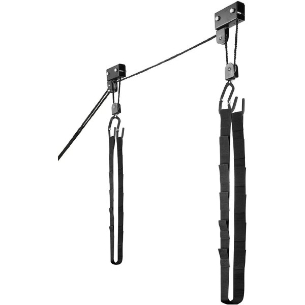 RADD Sportz Kayak Hoist Quality Garage Storage Canoe Lift with 125 lb Capacity Even Works as Ladder Lift Premium Quality
