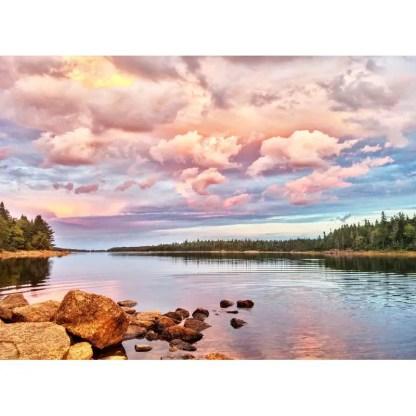 long lake provincial park sunset