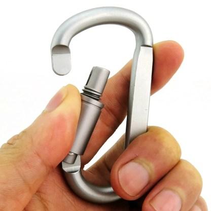Aluminum D-ring Locking Carabiner