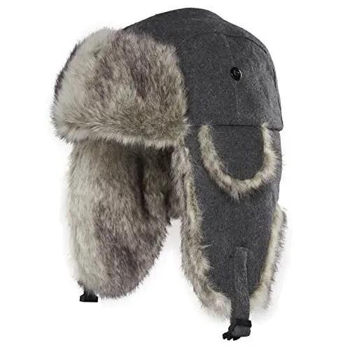 Wool Blend Trapper Hat  c3bda9c9438b