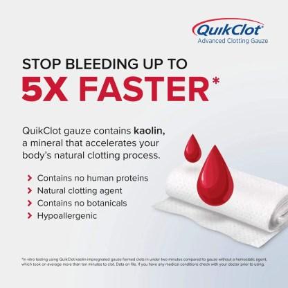 "QuikClot Advanced Clotting Gauze (3"" x 24"", 0.54 Ounce)"