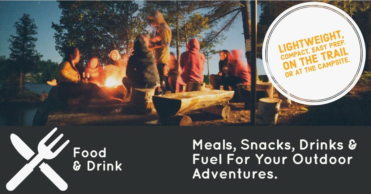 Camping and hiking food, drinks and snacks